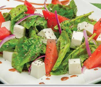 Spinach Salad with Watermelon