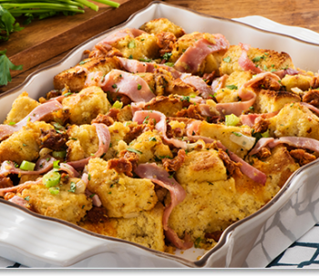Ham, Chorizo and Cornbread Stuffing