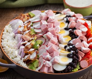 Mexican Cobb Salad with Creamy Grilled Jalapeño Dressing