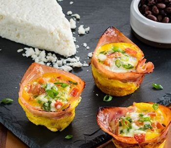 Mexican Eggs in Ham Cups