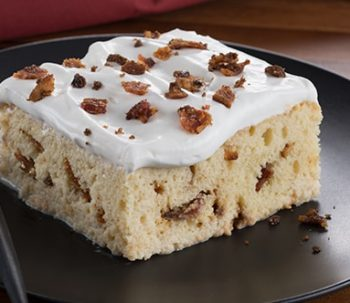 Tres Leches Cake with Bacon Crumble